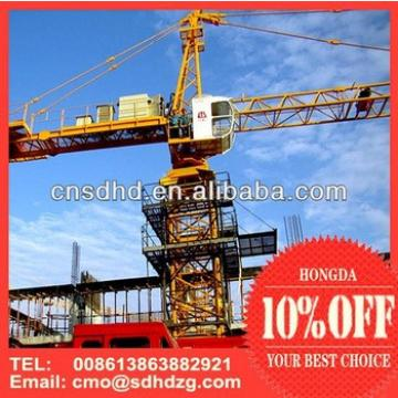 equipment manufacturing buy hongda qtz125 8t or 10t tower crane high quality with ce