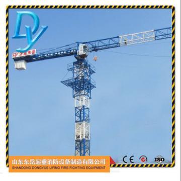 QTP4808, 4t max load, 48m jib, 0.8t tip load topless china tower crane