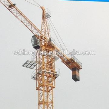 Hydraulic tower crane specification lifting capacity with CE Certificate QTZ63 5010
