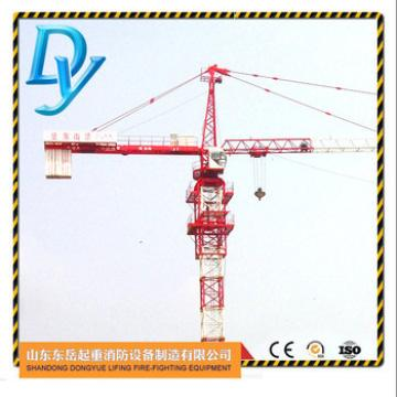 TC6010, arm length 60m, tip load 1.0t, 8t chinese fixed tower crane