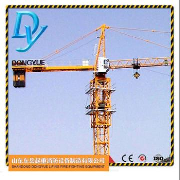 TC5013, 50m jib, 1.3t tip load, 6t, China tower crane