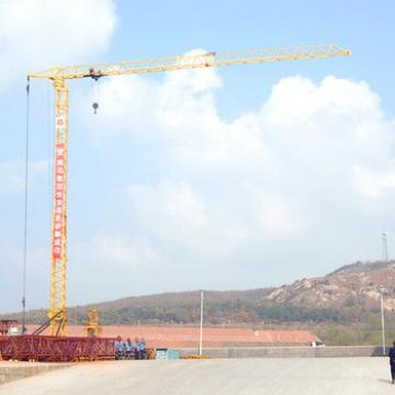 Fast Erecting Light Capacity Jib Tower Crane With Telescopic Cage