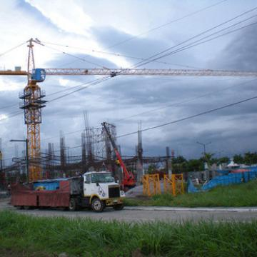 Qtz40 Material Handling Luffing Jib Tower Crane Price