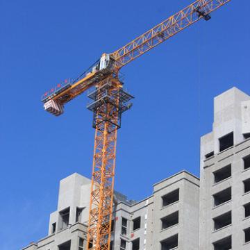 Hot Sales Qtz80 8 Tons Hammerhead Flat Top Tower Crane