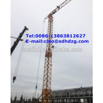 fast erecting mini tower crane/small fast erecting tower crane