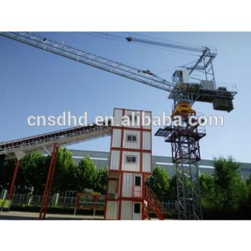 10t inside climbing luffing tower crane