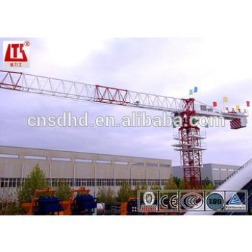 Hongda QTP100(5515) 6ton capacity Flat top tower crane