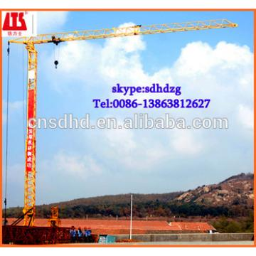 no foundation 2t tower crane fast erecting tower crane