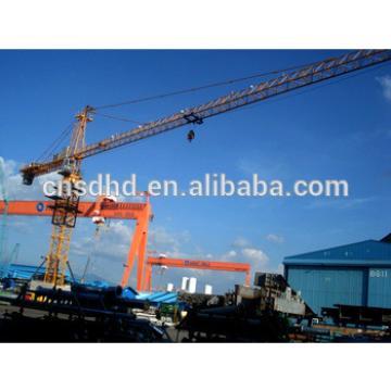 hammer head QTZ80 tower crane 8T tower crane