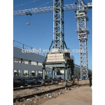Mobile tower crane with rail, Inside-climbing tower crane