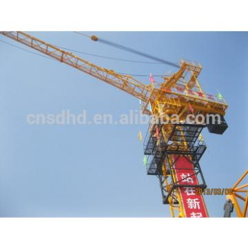 construction tower crane QTZ80D(5013) 6T luffing tower crane