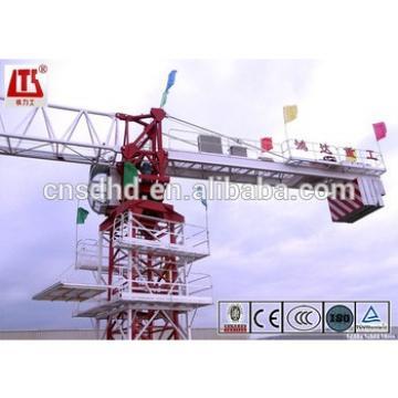 Hongda QTP80 6t topless tower crane 55m jib length flat top tower crane
