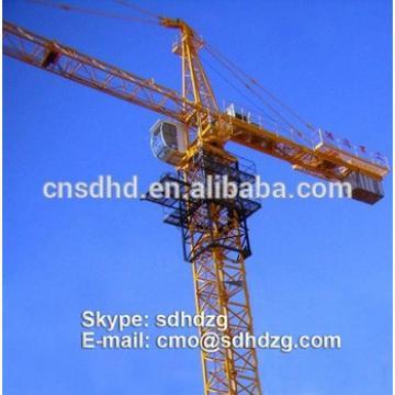 QTZ125 construction tower crane load 8 ton