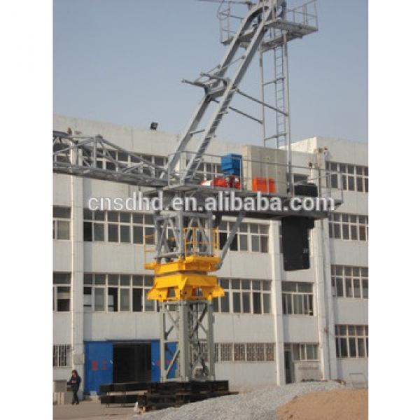 3t-25t luffing tower crane QTZ160 10t track traveling tower crane #1 image